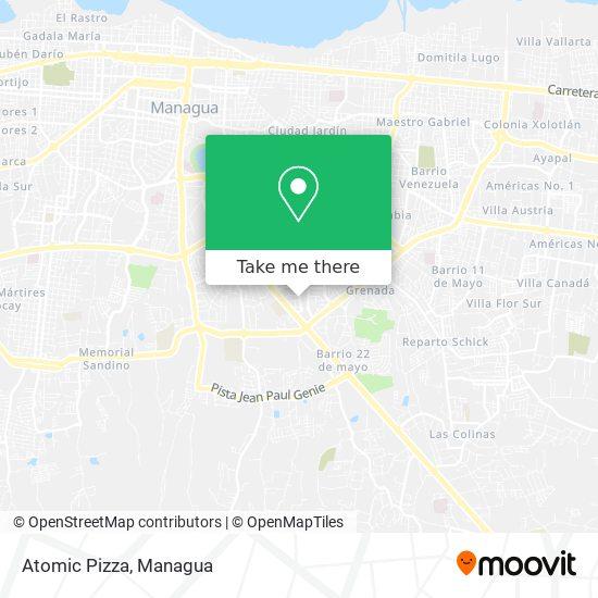 Atomic Pizza map