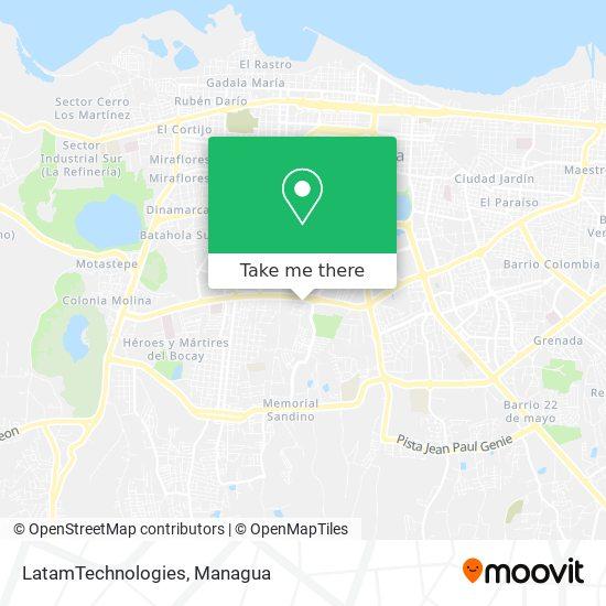 LatamTechnologies map