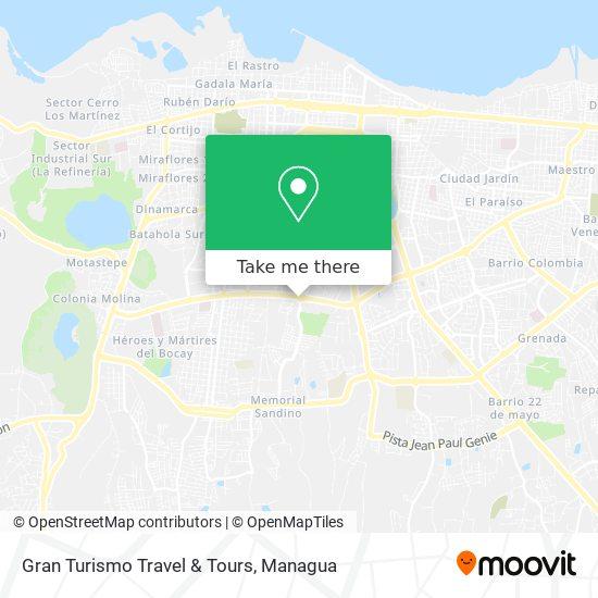 Gran Turismo Travel & Tours map