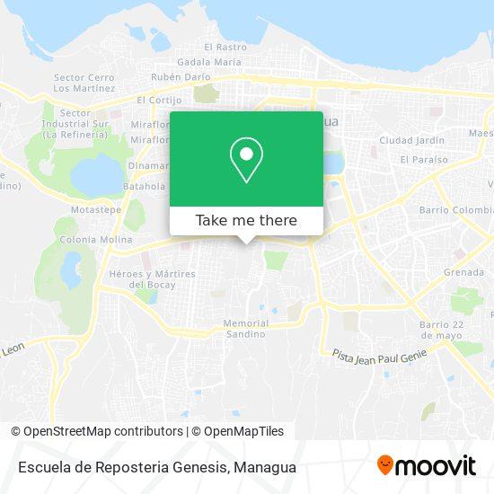 Escuela de Reposteria Genesis map