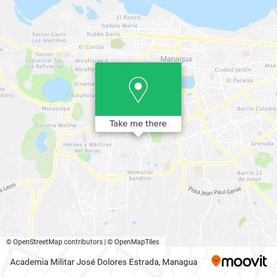 Academia Militar José Dolores Estrada map