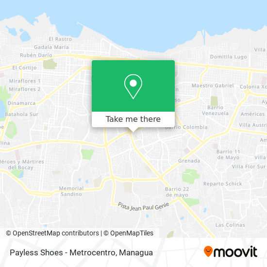 Payless Shoes - Metrocentro map