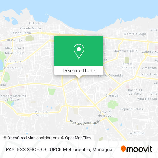 PAYLESS SHOES SOURCE Metrocentro map