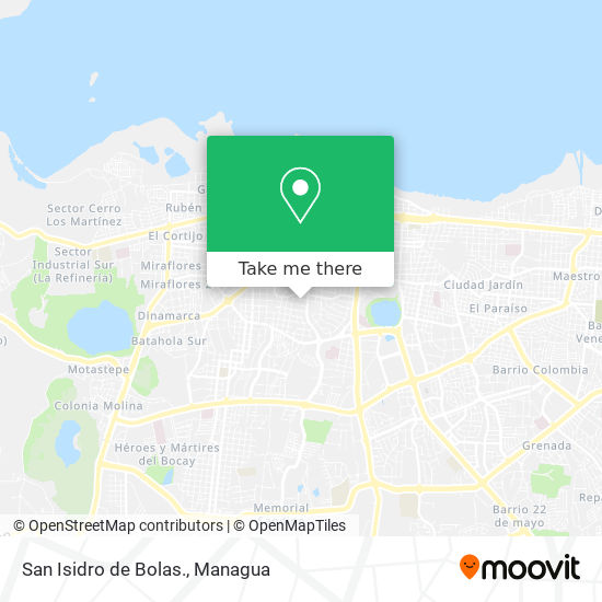 San Isidro de Bolas. map