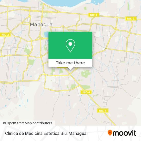 Clínica de Medicina Estética Biu map