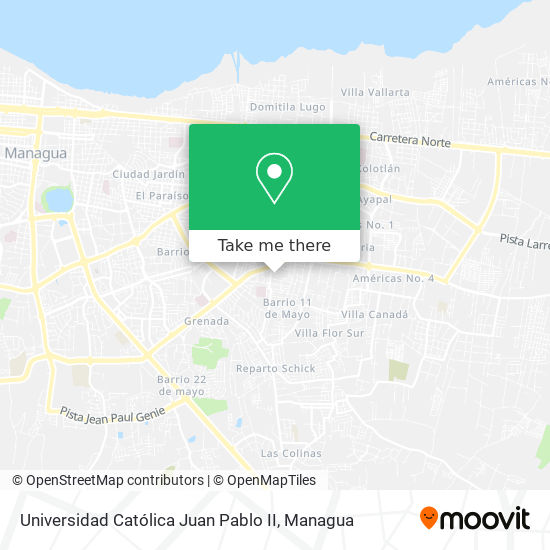Universidad Católica Juan Pablo II map