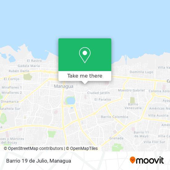 Barrio 19 de Julio map