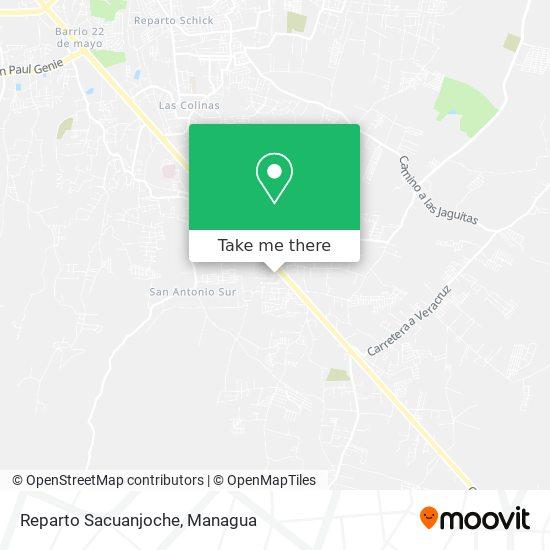 Reparto Sacuanjoche map