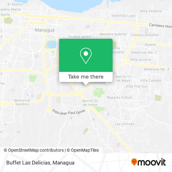 Buffet Las Delicias map