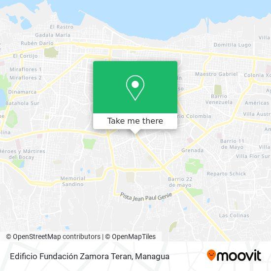 Edificio Fundación Zamora Teran map