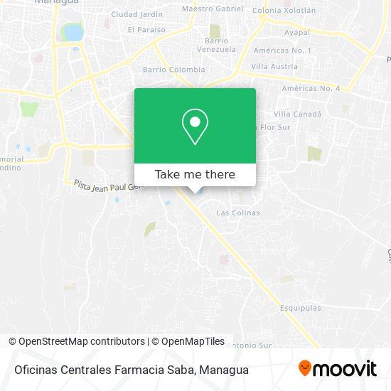 Oficinas Centrales Farmacia Saba map