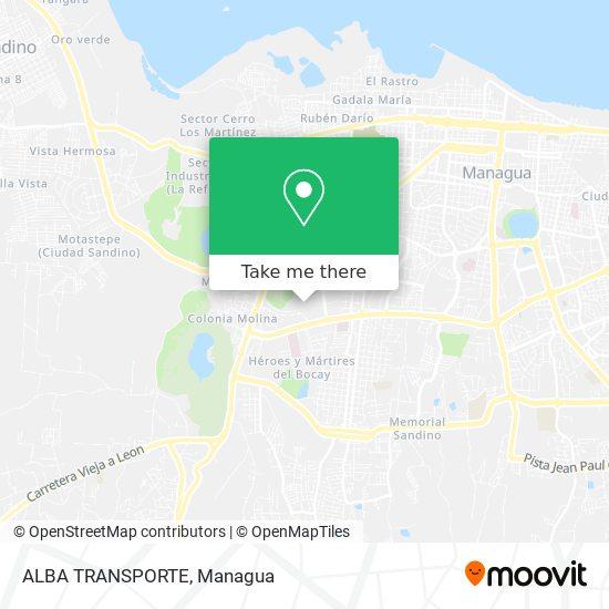 ALBA TRANSPORTE map