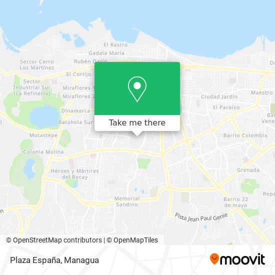Plaza España map