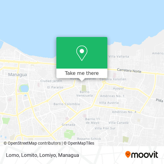 Lomo, Lomito, Lomiyo map