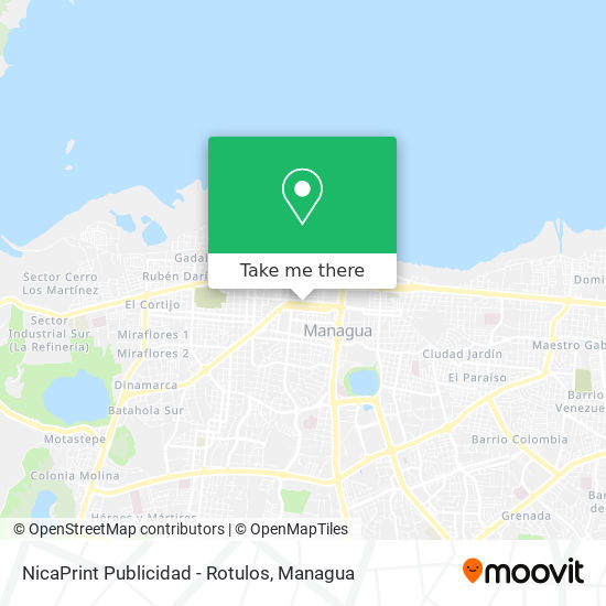 NicaPrint Publicidad - Rotulos map