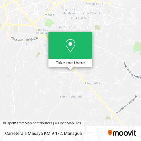 Carretera a Masaya KM 9 1/2 map