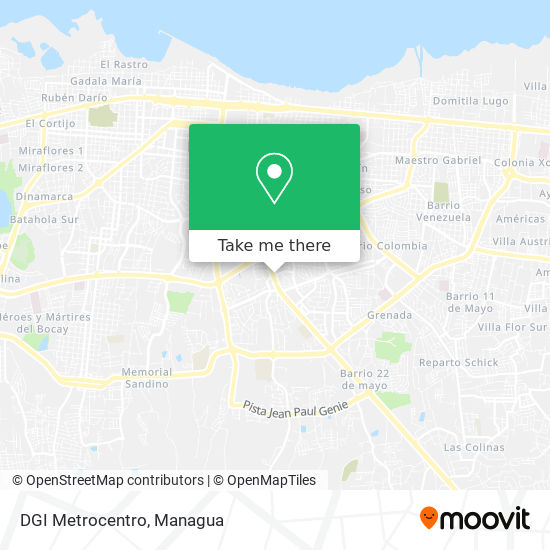 DGI Metrocentro map