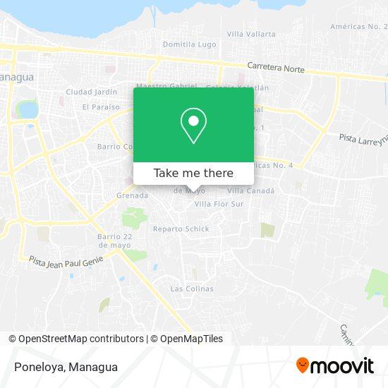 Poneloya map