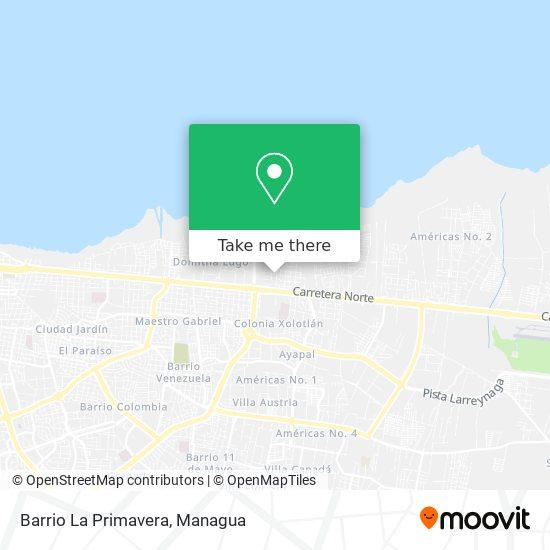 Barrio La Primavera map