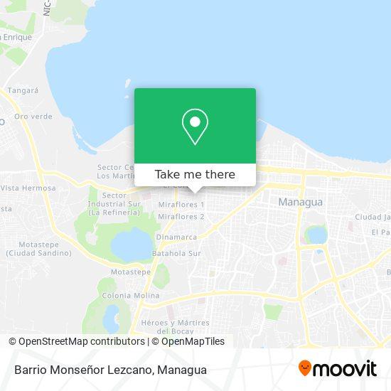 Barrio Monseñor Lezcano map