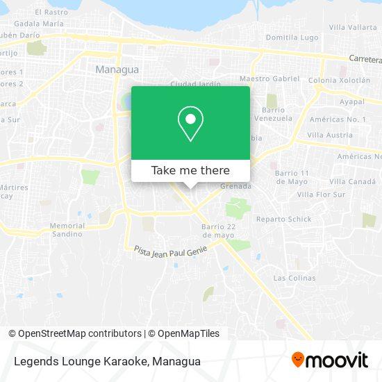 Legends Lounge Karaoke map