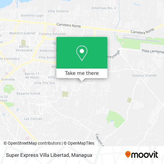 Super Express Villa Libertad map