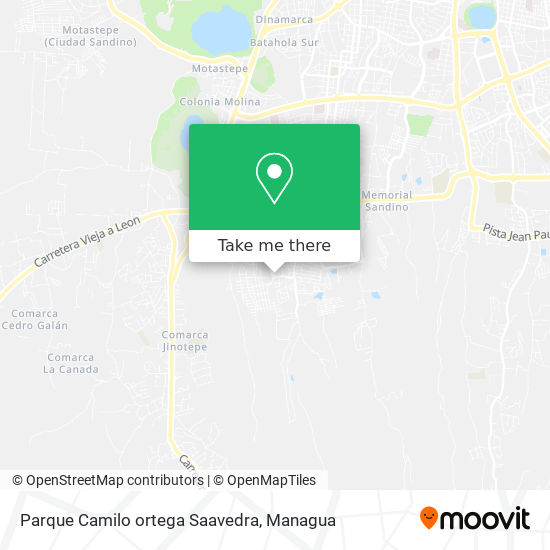 Parque Camilo ortega Saavedra map