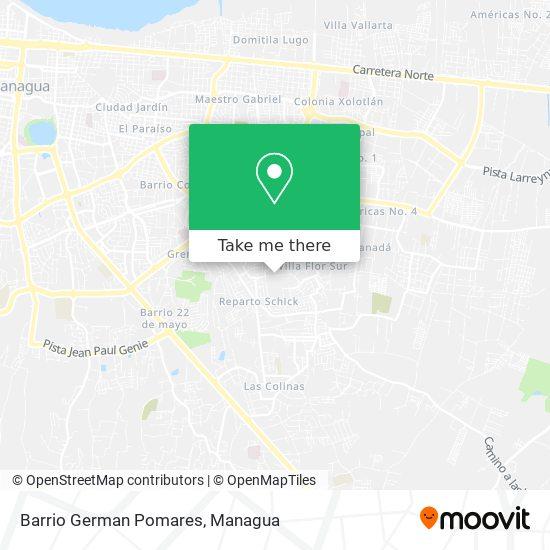Barrio German Pomares map