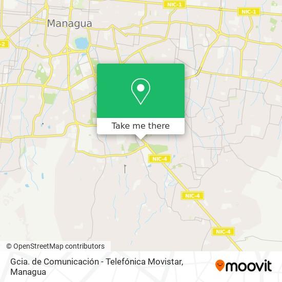 Gcia. de Comunicación - Telefónica Movistar map