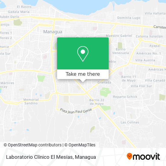 Laboratorio Clínico El Mesías map