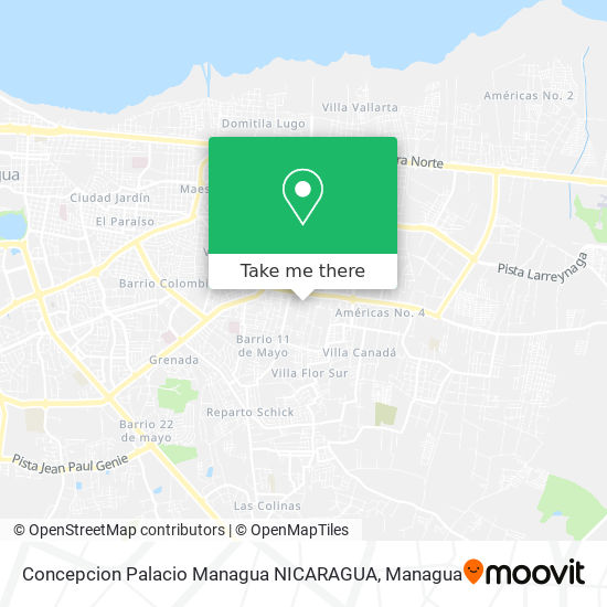 Concepcion Palacio Managua NICARAGUA map