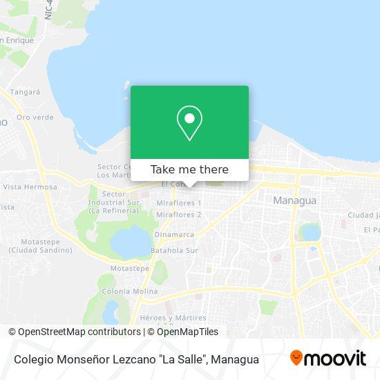 """Colegio Monseñor Lezcano """"La Salle"""" map"""