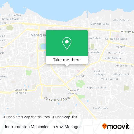 Instrumentos Musicales La Voz map
