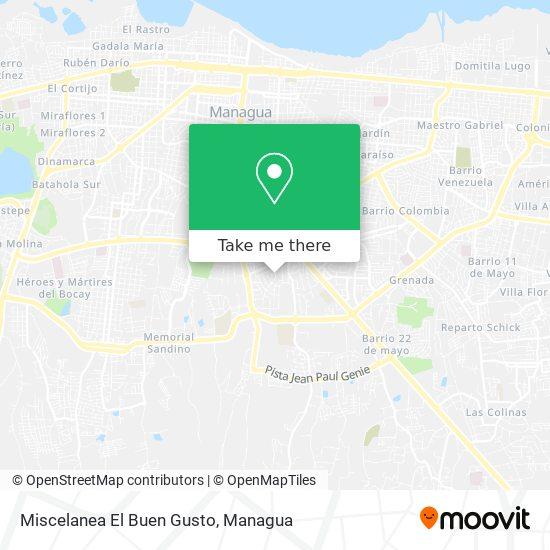 Miscelanea El Buen Gusto map