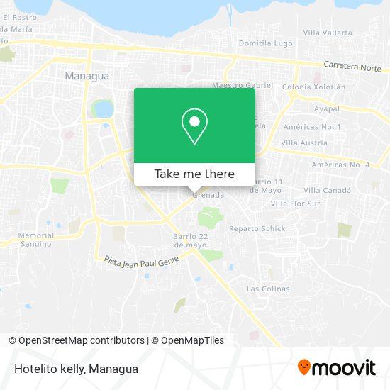 Hotelito  kelly map