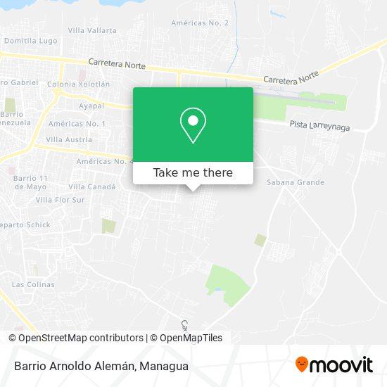 Barrio Arnoldo Alemán map