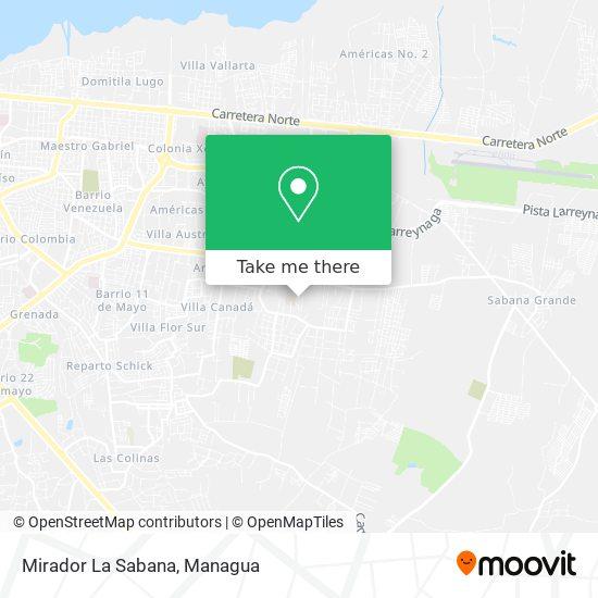 Mirador La Sabana map