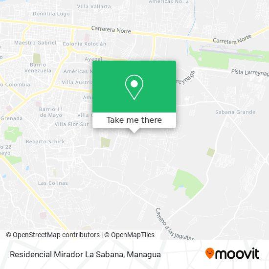 Residencial Mirador La Sabana map