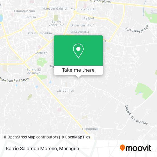 Barrio Salomón Moreno map
