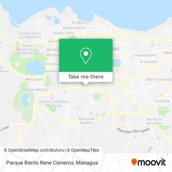 Parque Barrio Rene Cisneros map