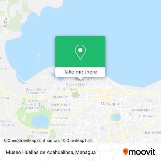 Museo Huellas de Acahualinca map