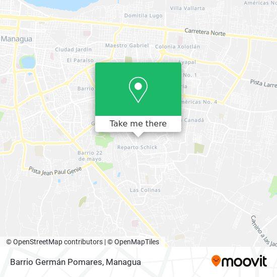 Barrio Germán Pomares map