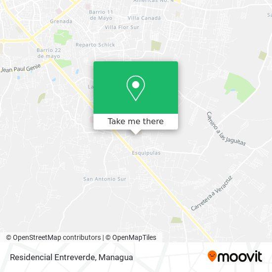 Residencial Entreverde map