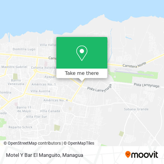Motel Y Bar El Manguito map