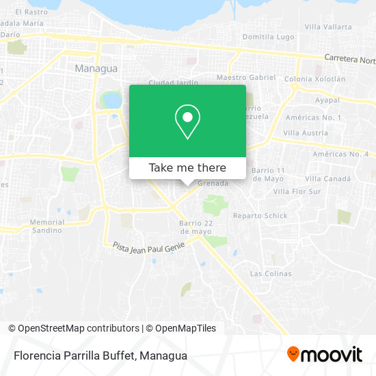 Florencia Parrilla Buffet map