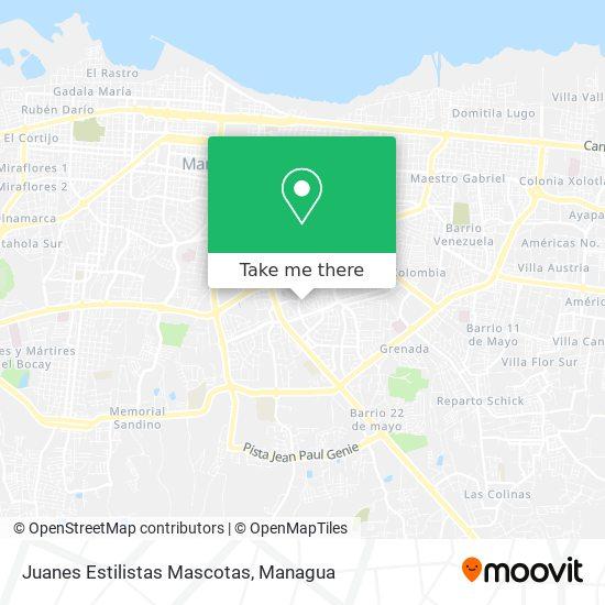Juanes Estilistas Mascotas map