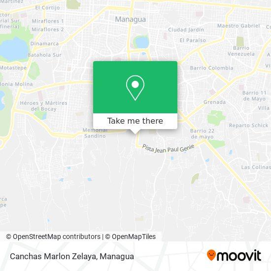Canchas Marlon Zelaya map