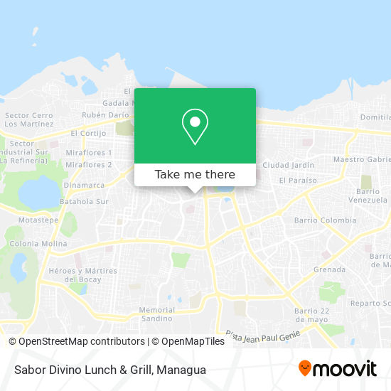 Sabor Divino Lunch & Grill map