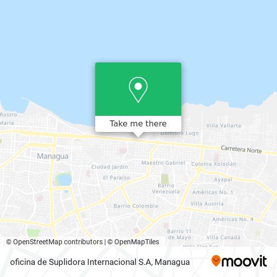 oficina de Suplidora Internacional S.A map