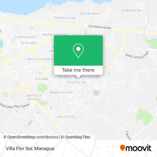 Villa Flor Sur map